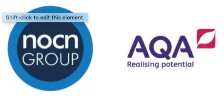 NCON and AQA Logos